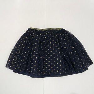 Hanna Andersson Bottoms - Hanna Andersson Navy Gold Poka Dot Skirt